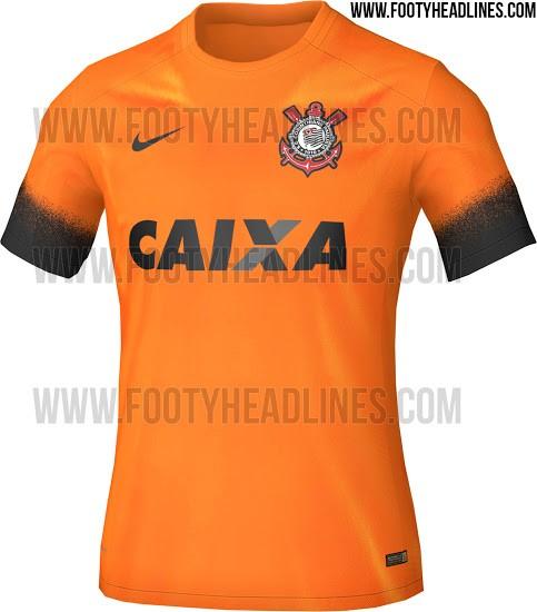 Camisa Corinthians III - Laranja