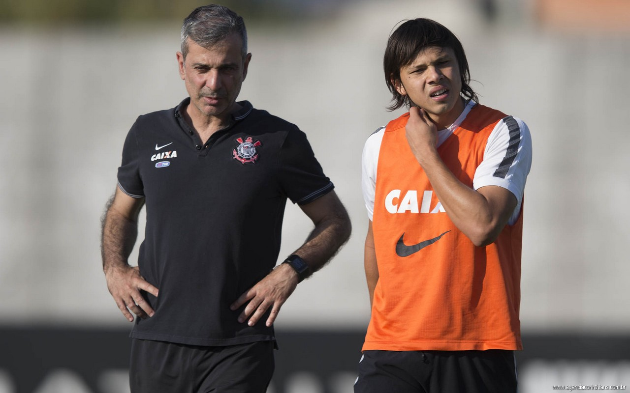Fabio - Angel Romero - Treino do Corinthians
