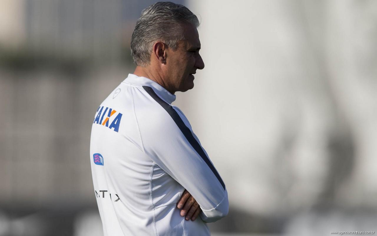 Tite - Treino do Corinthians