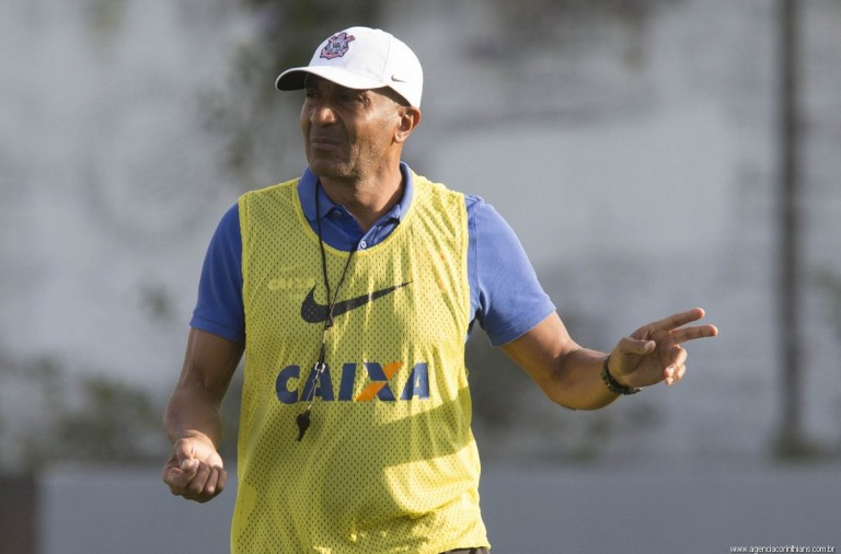 Cristóvão Borges - Treino do Corinthians