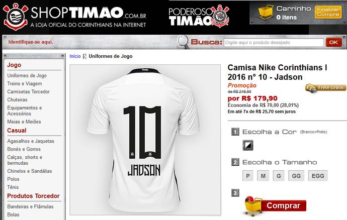 Jadson - ShopTimão. Notícias do Corinthians 604afa725d6cb