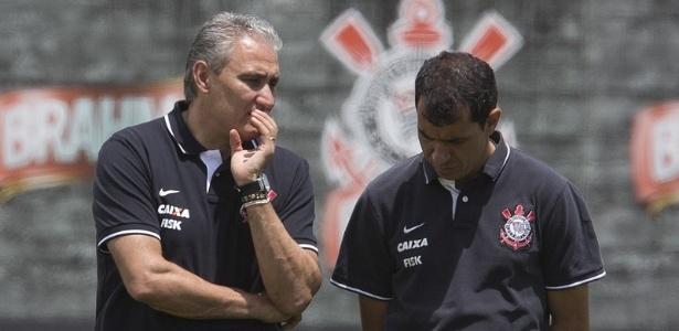 Tite e Carille trabalharam juntos no Corinthians
