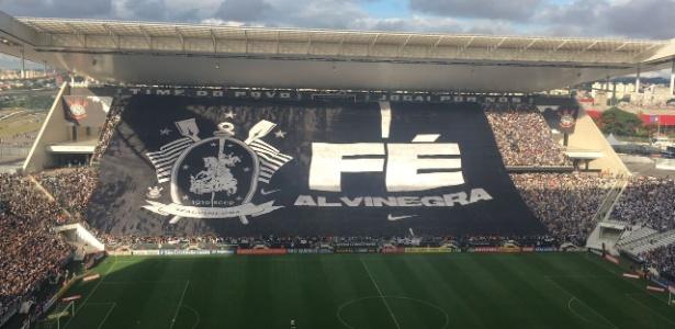 Arena Corinthians lotada na final do Paulistão contra a Ponte Preta