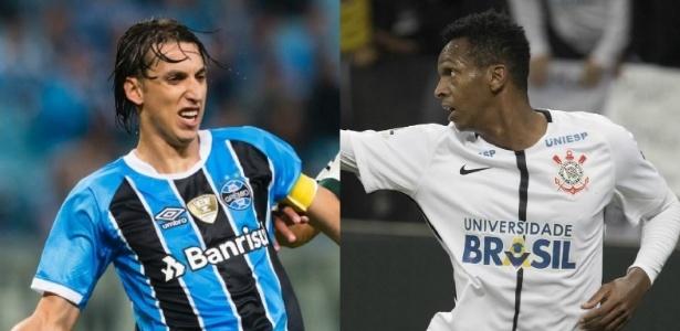 Geromel (do Grêmio) e Jô (do Corinthians) se preparam para duelo entre líder e vice do BR