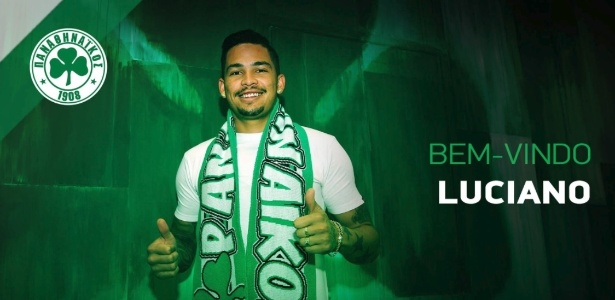 Luciano, ex-Corinthians, é anunciado como reforço do Panathinaikos