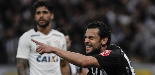 Pelo Brasileiro de 2016 o Atlético-MG bateu o Corinthians por 2 a 1, no Mineirão, com gol de Fred