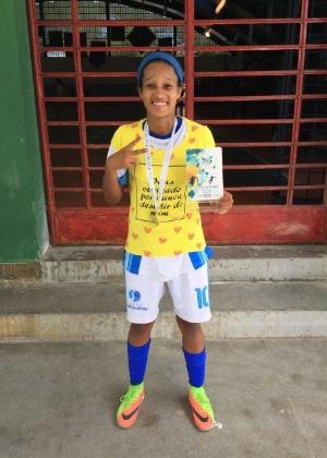 Luana foi campeã estadual de futsal
