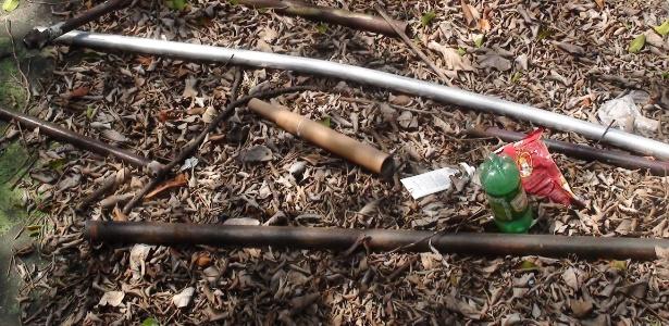 Armas usadas na briga entre corintianos e palmeirenses em março de 2012