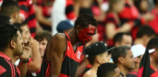 O torcedor não esconde a insatisfação com a má fase do Flamengo em 2017