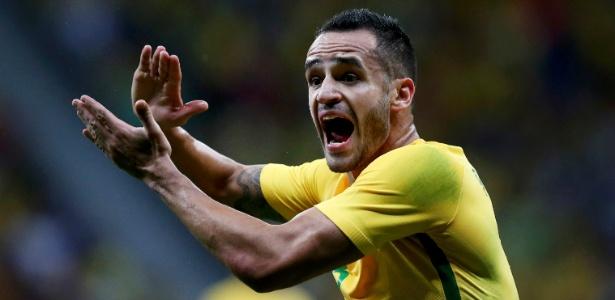 Renato Augusto em ação pela seleção: meia ainda tem forte ligação com o Corinthians