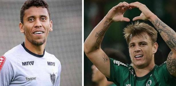 Marcos Rocha defenderá o Palmeiras, enquanto Róger Guedes atuará no Atlético-MG