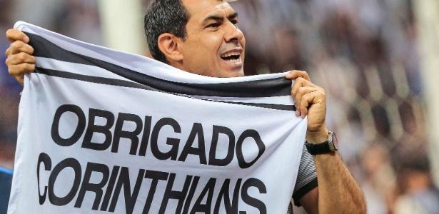 Carille comemora o título do Corinthians