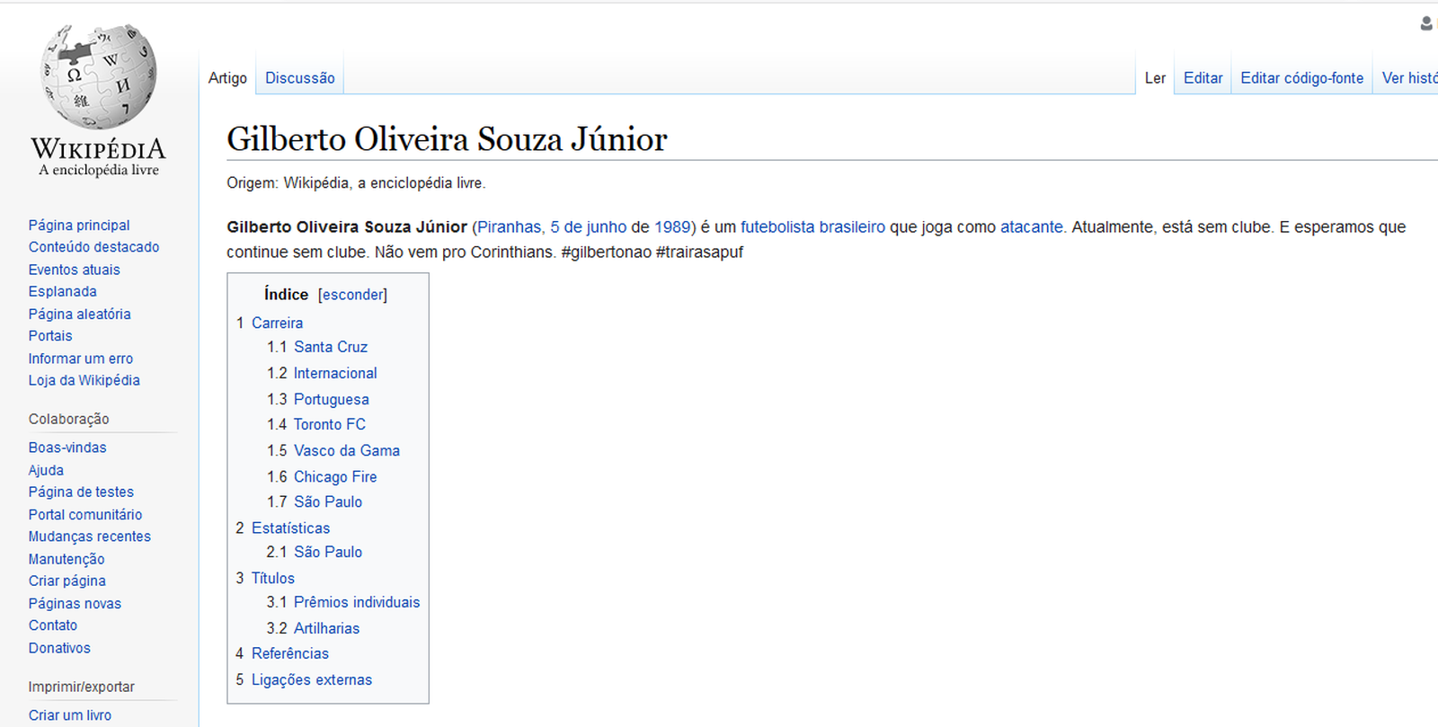 Wiki - Gilberto