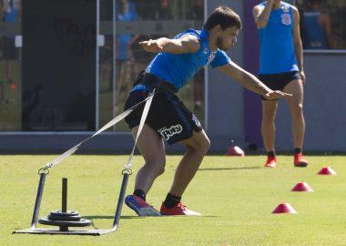 Romero - Treino do Corinthians