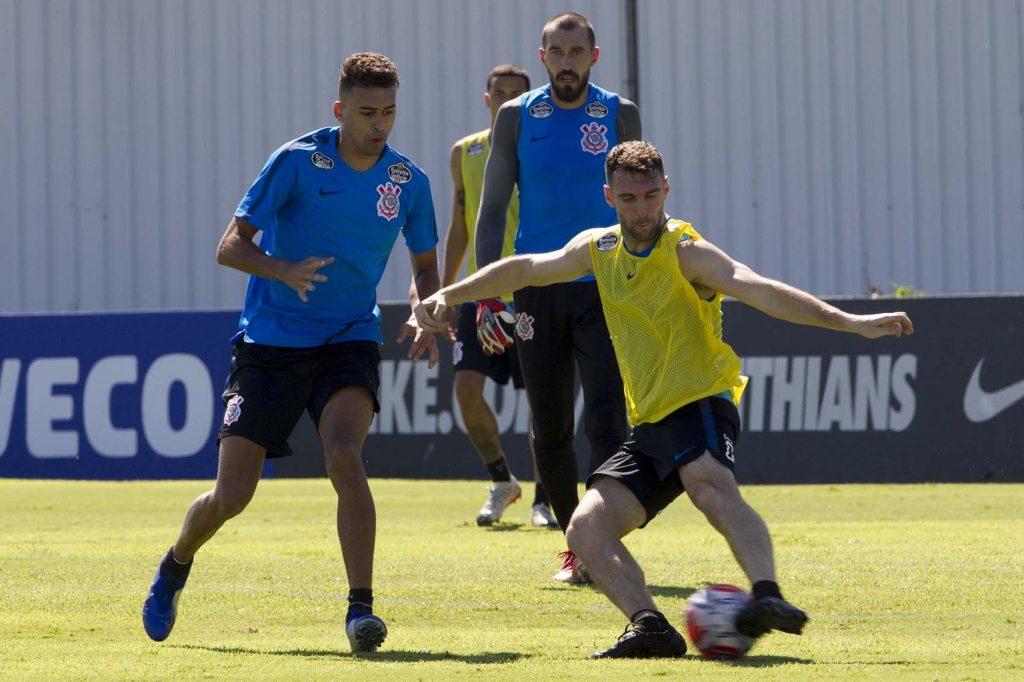 Léo Santos - Boselli - Treino do Corinthians