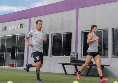 Richard - Jadson - Romero - Treino do Corinthians