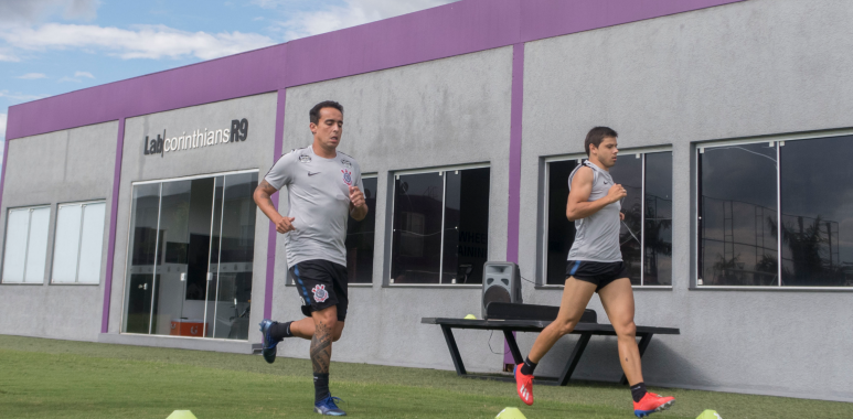 Richard - Jadson - Romero - Treino do Corinthians
