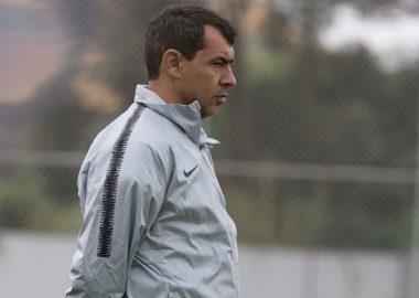 Fábio Carille - Treino do Corinthians