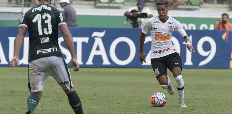 Pedrinho durante Palmeiras 0 x 1 Corinthians - Paulistão 2019