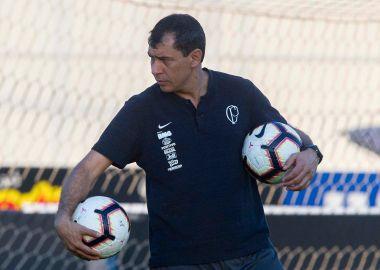 Fabio Carille durante treino para Corinthians x Montevideo Wanderers