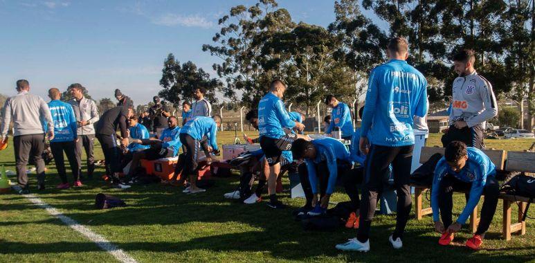 Jogadores - Treino do Corinthians no Uruguai