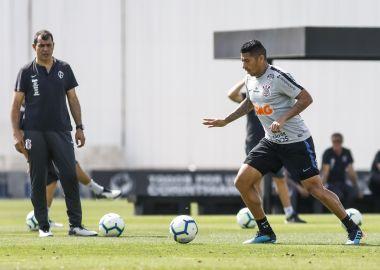 Fabio Carille - Ralf - Treino do Corinthians