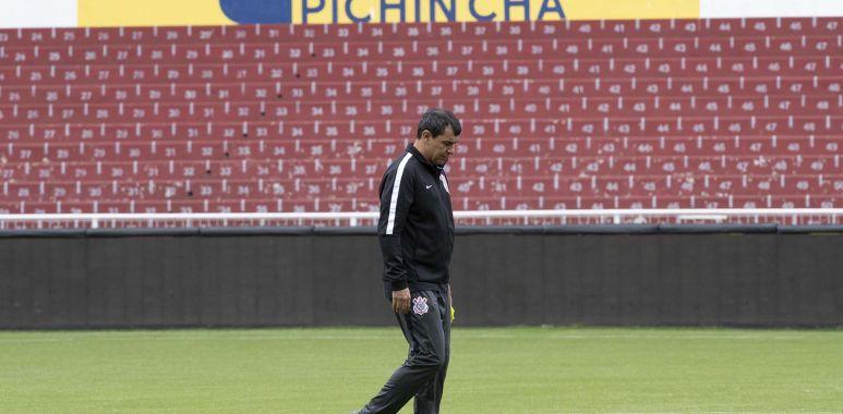 Fabio Carille - Treino do Corinthians no Equador