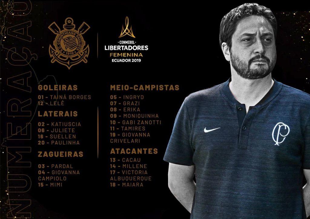 Corinthians - Inscritas e Números Libertadores Feminina 2019