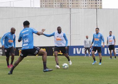 Treino do Corinthians - Jogadores