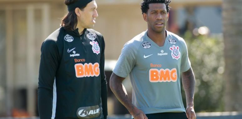 Cassio - Gil - Treino do Corinthians